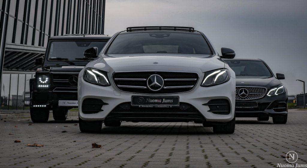Automobilių nuoma su vairuotoju baltas