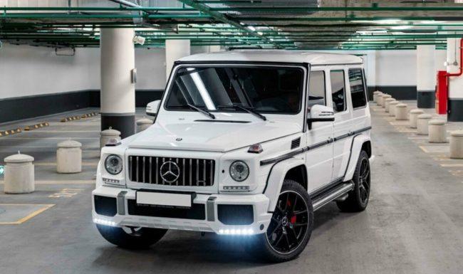 Mercedes G Nuoma baltas