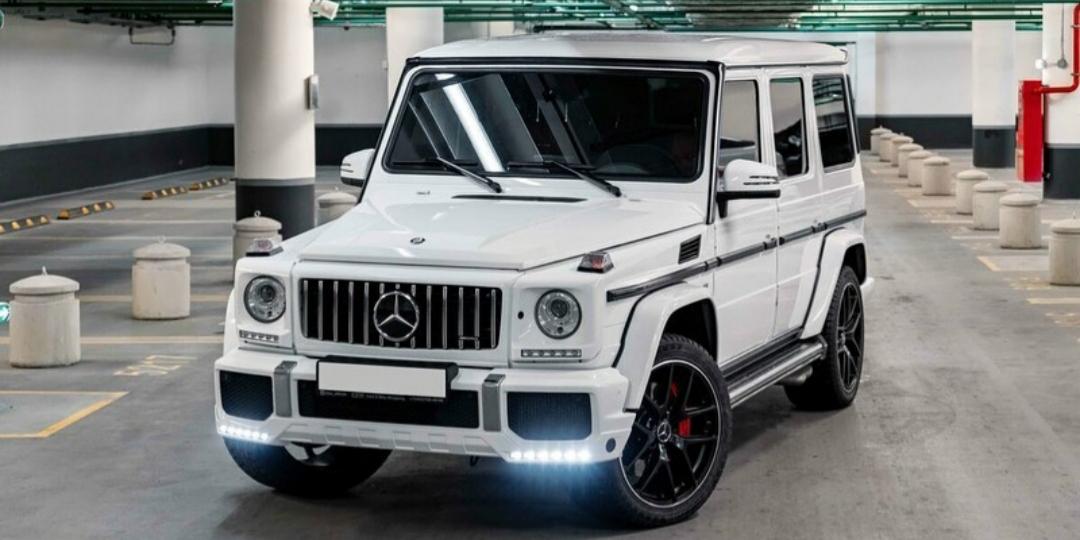 Prabangių automobilių nuoma Mercedes G baltas