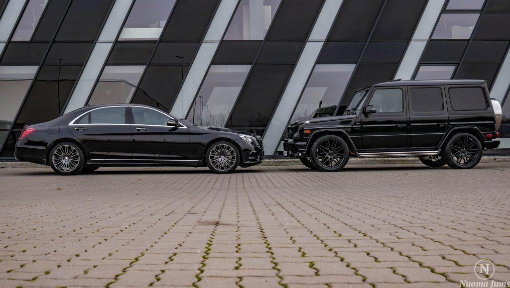 Prabangių automobilių nuoma S mercedes ir Gelikas
