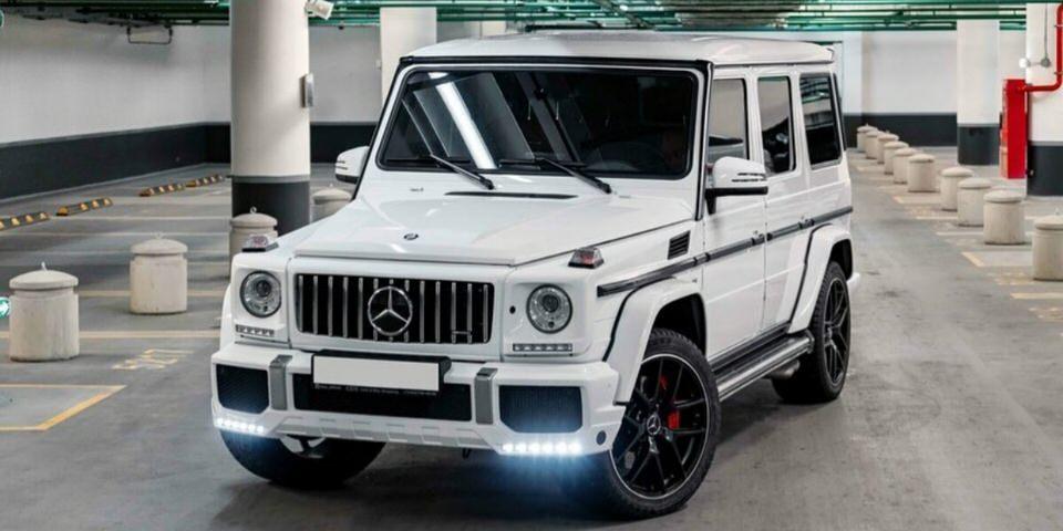 Mercedes-Benz G 55 (geliko) nuoma baltas